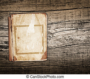 old book on a wood background