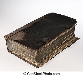 old book, on white background