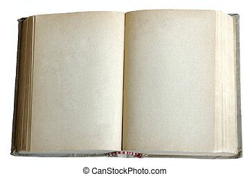 old book or dairy whith open empty pages