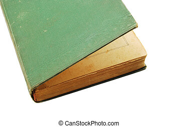book - old book over white