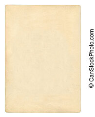 Old Book Page - Blank page from an old book, Isolated with...