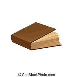 Old book with brown cover vector Illustration on a white background