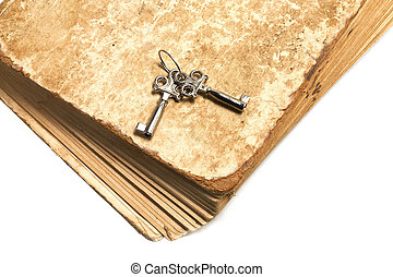 Old book with the keys