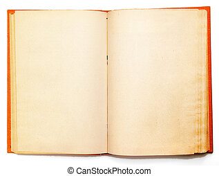 Old book`s broadside with blank shabby pages. BIG