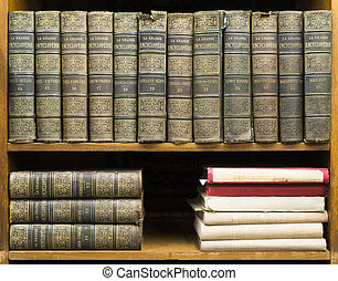 Old books on shelf