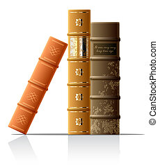 Vector illustration of old books