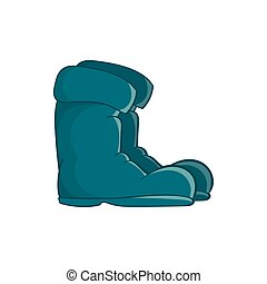 Old boots icon in cartoon style