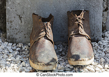old boots in the street