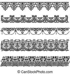 Old border designs vector set