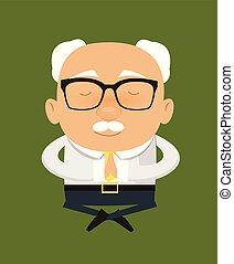 Old Boss Businessman - Sitting and Praying