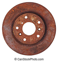 Old brake disc isolated
