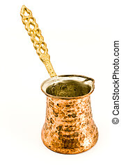 Old brass coffee pot