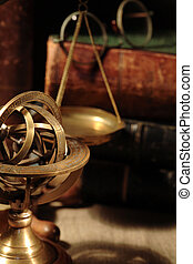 Old Brass Globe