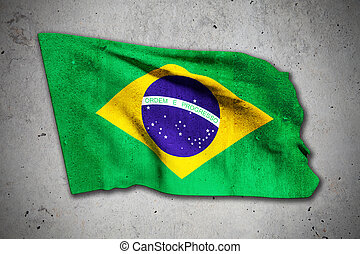 old brazilian flag