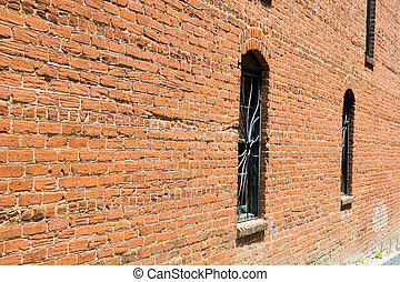 Old Brick and Iron Windows