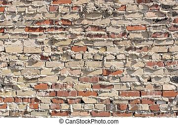 Old Brick and Mortar Wall