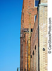 old brick apartment buildings