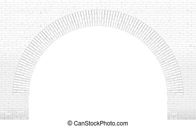 Old brick arch loft facade - Old wide brick facade facade in...