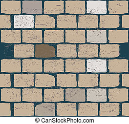 old brick background. vector