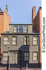 old brick building at beacon hill area in Boston
