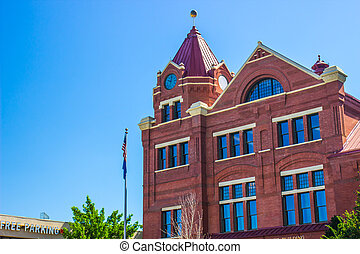 Old Brick Building With Clock Tower