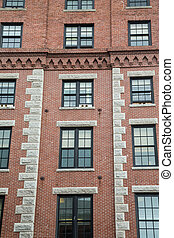 Old Brick Building with Granite Sills