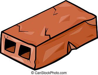 old brick cartoon clip art - Cartoon Illustration of Old...
