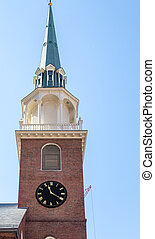 Old Brick Clock Tower in Boston