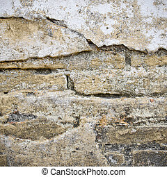 Old Brick Concrete Wall Surface