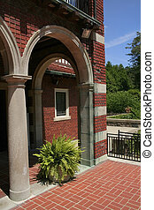 Old Brick Home Entrance