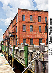 old brick houses at the harbor - old historic brick houses ...