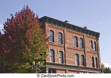 Old Brick in Fall
