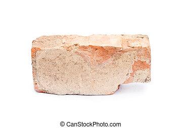 Old brick isolated on white
