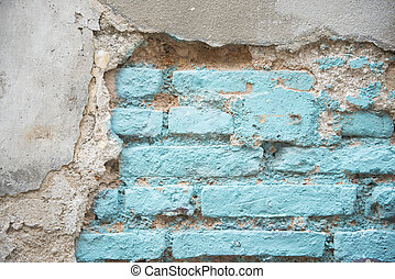 old brick on the wall for background