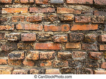 Old brick on wall