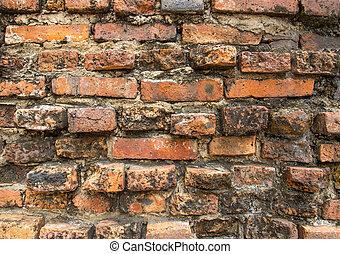 Old brick on wall