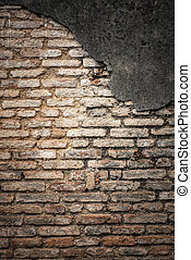 old brick wall, abstract texture background in vintage filter tone