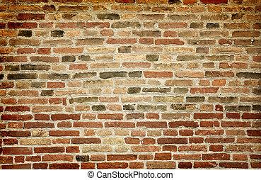 Old brick wall as backgroud