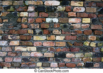 Old brick wall close up as a background