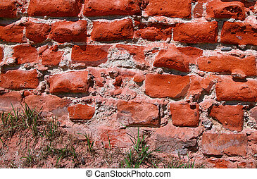 old brick wall dating centuries back