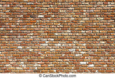 Old Brick Wall Different Colors