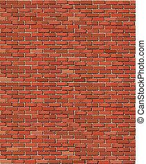 Old brick wall - A vector illustration of an old brick wall
