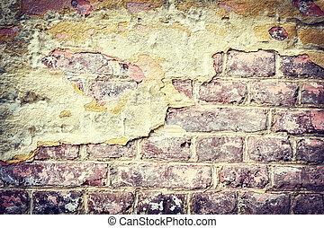Old brick wall. Grunge background