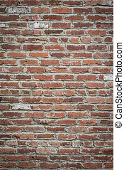 Old Brick Wall - Horizontal shot of an old red brickwall to...