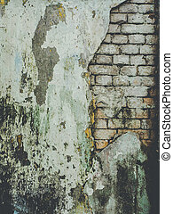 Old brick wall in myanmar