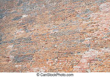 Old brick wall in Prague