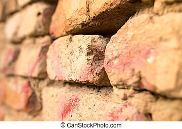 Old brick wall in the house as a background