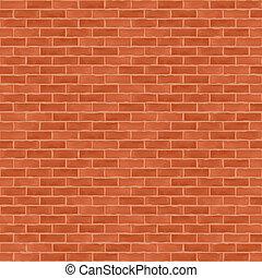 Old Brick Wall - Old brick wall, vector eps10 illustration