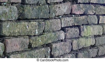 Old Brick Wall or torn surface of brick wall Pan Camera