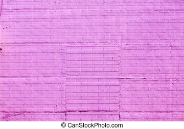 old brick wall painted with color
